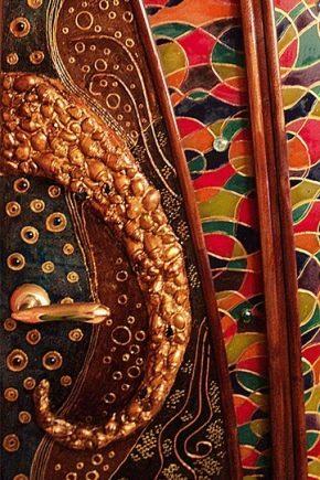 Décoration et décoration de porte