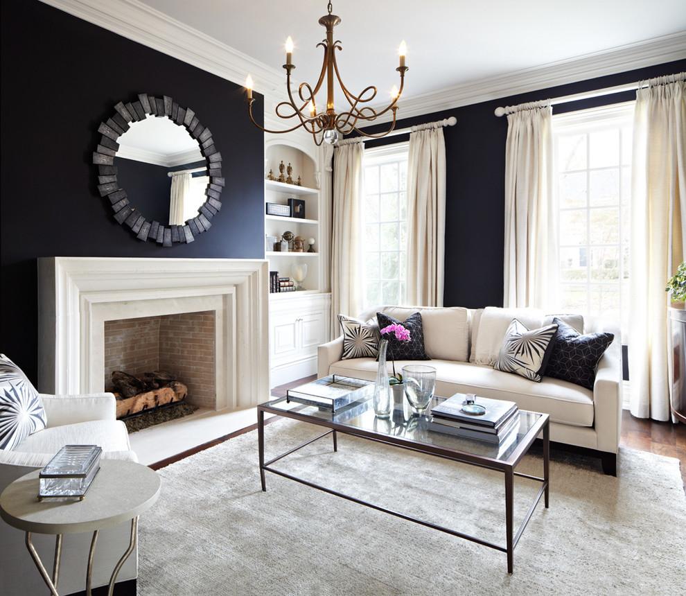 Intérieur de salon chic dans un style classique moderne