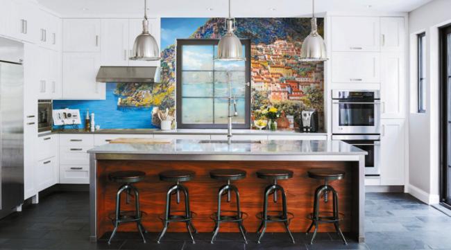 Décoration exclusive pour les murs de la cuisine