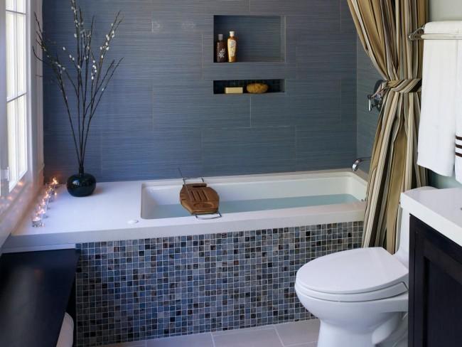 La salle de bain combinée peut être agréable et confortable.