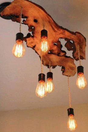 Lustres en bois