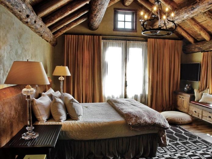 chambre dans un style campagnard anglais