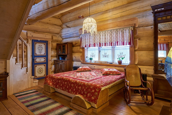 chambre à coucher de style russe