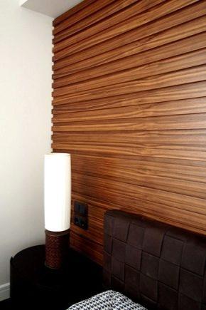 Panneaux MDF plaqués pour murs: de belles options en design d'intérieur