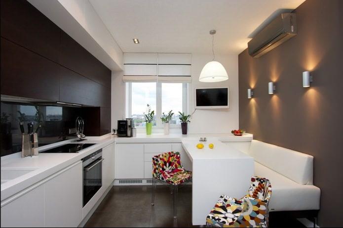 Plafond en placoplâtre dans la cuisine