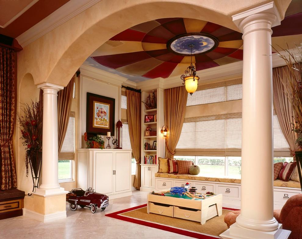 Les couleurs gaies du plafond contribuent au développement harmonieux de l'enfant