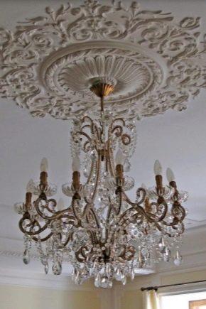 Plafonds en plâtre: caractéristiques de conception et beaux exemples