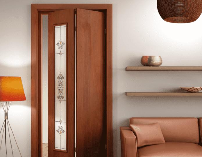 portes vitrées-livre à l'intérieur