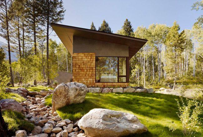 Maison moderne de plain-pied selon un projet individuel