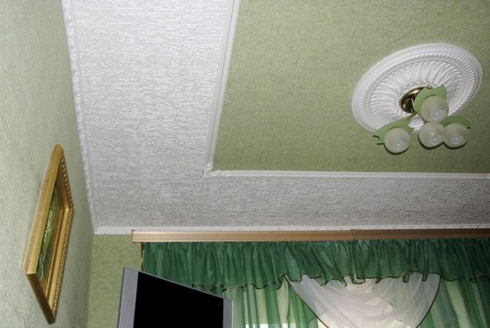 papier peint avec des carreaux de plafond