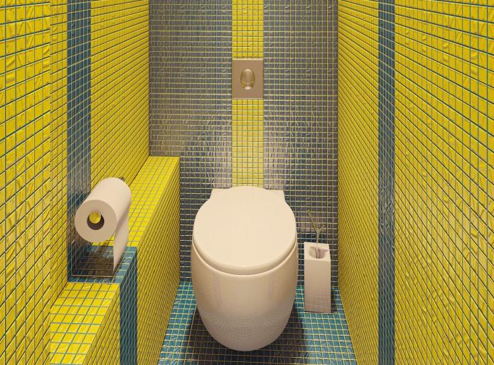 mosaïque dans les toilettes