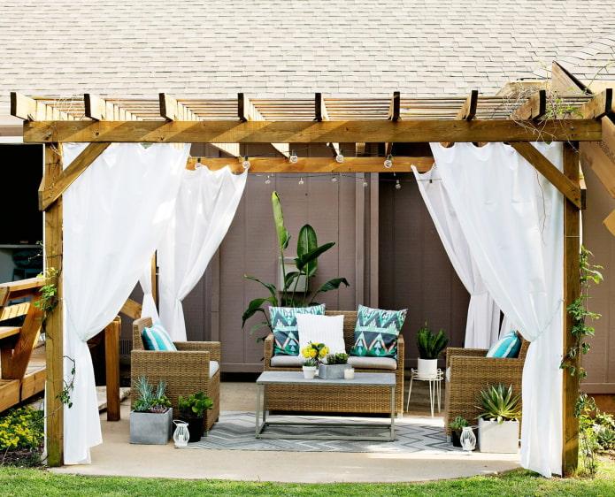 décoration de terrasse avec pergola