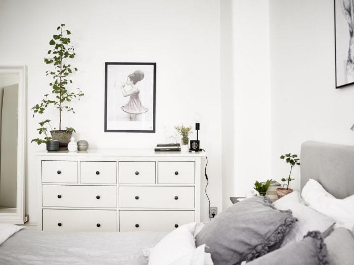 chambre de style scandinave