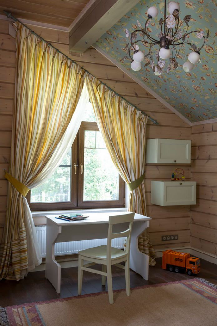 rideaux de fenêtre trapézoïdaux