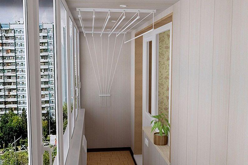 Sèche-linge au plafond (55+ photos)