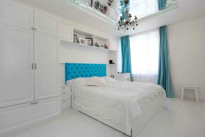 stratifié blanc mat dans la chambre