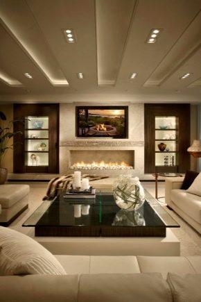 Subtilités du design du plafond dans le salon