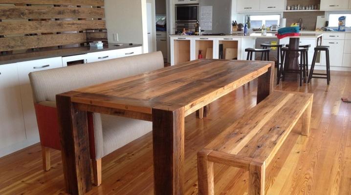 Table de cuisine en bois bricolage