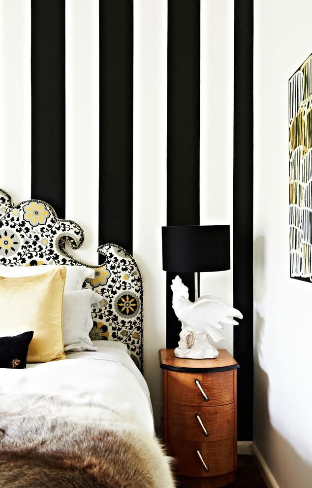 Conception de chambre à coucher moderne et colorée