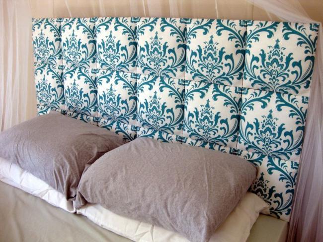 Superbe tête de lit douce, faite à la main