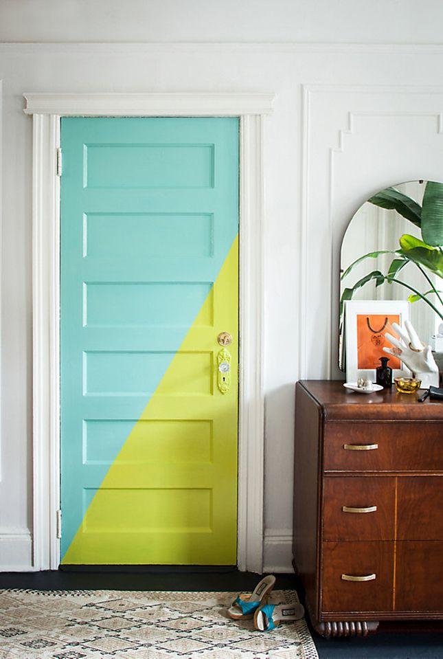 Cette couleur de porte convient aux jeunes et aux créatifs.