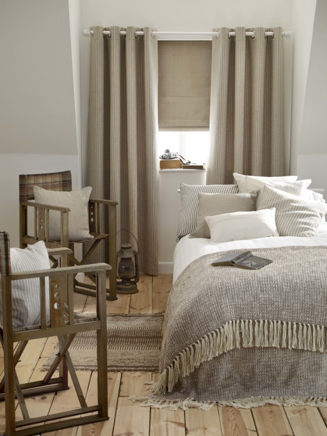 Conception de chambre à coucher de style campagnard
