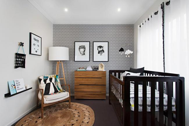 Conception de chambre d'enfant de style scandinave