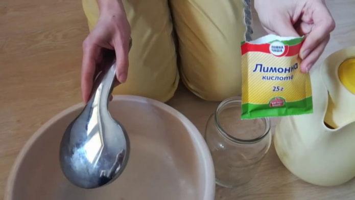 Acide citrique pour le calcaire