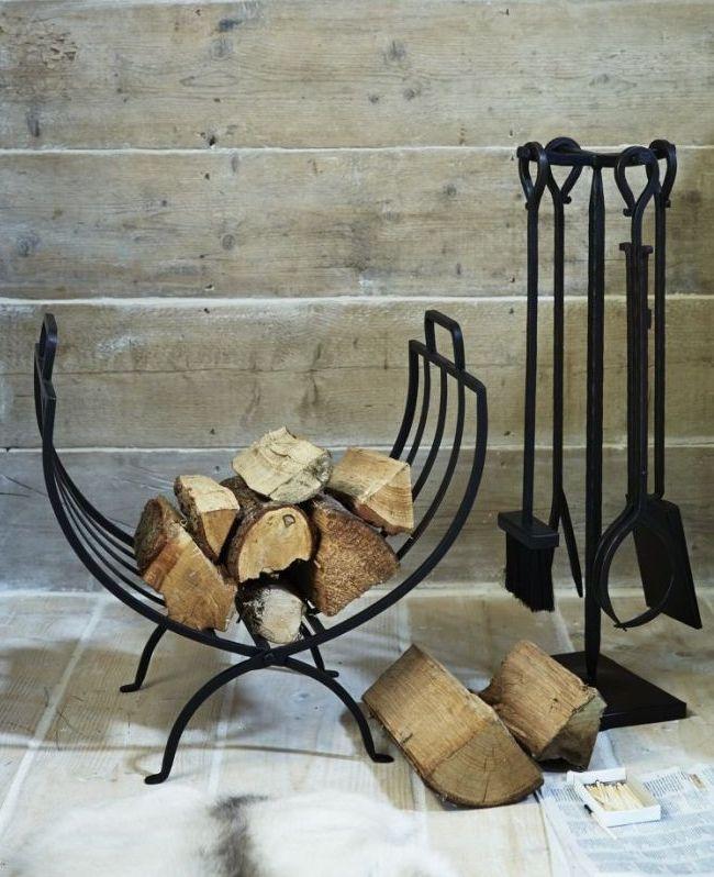 Accessoires de cheminée en fer forgé