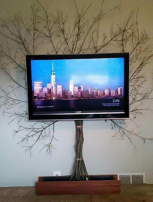fils de décoration du téléviseur
