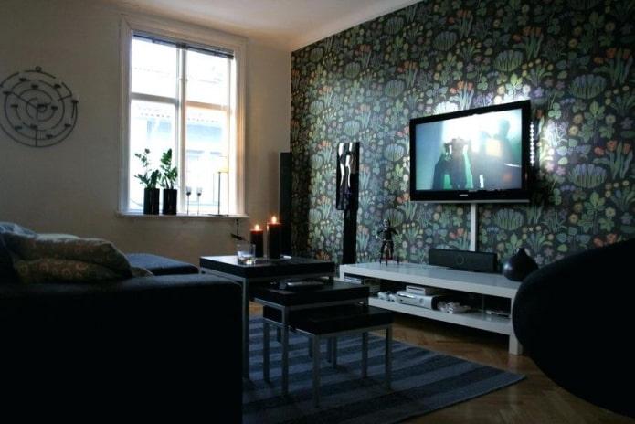comment cacher le fil de la télé dans le salon