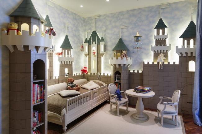 Une chambre aux allures de château ravira un enfant de moins de 10 ans