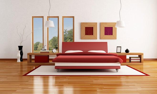 Chambre en rouge