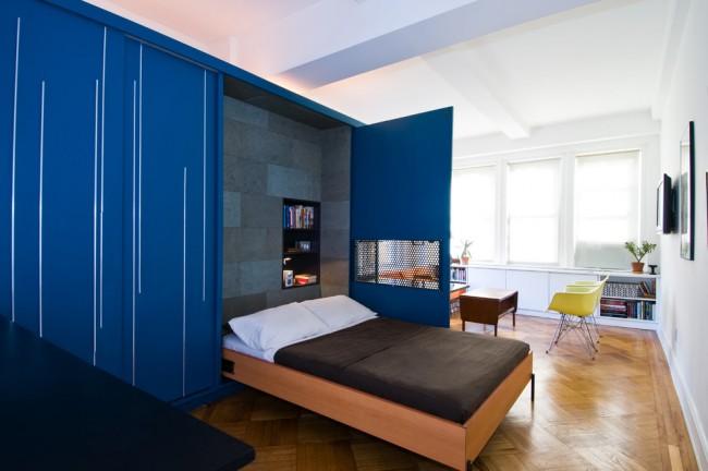 Armoire-lit et mini bureau à domicile