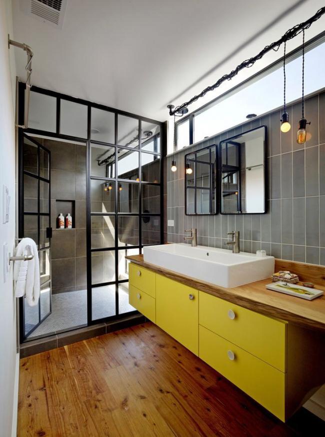 Meubles sous le lavabo suspendu - pratique et moderne