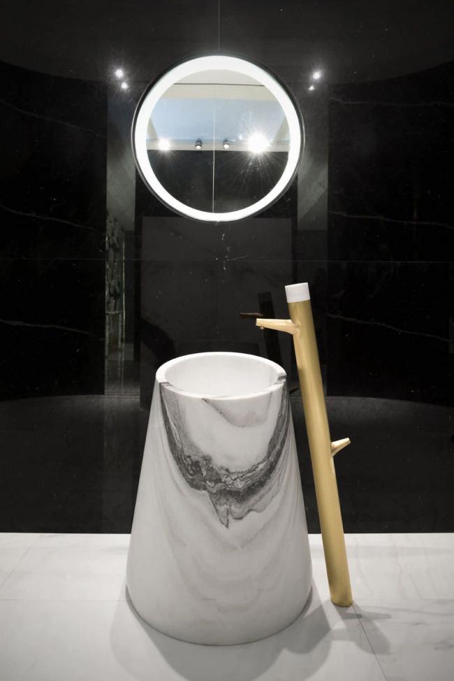 Lavabo à encastrer avec motif marbre