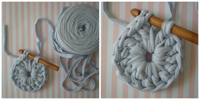 Crochet simple au premier rang