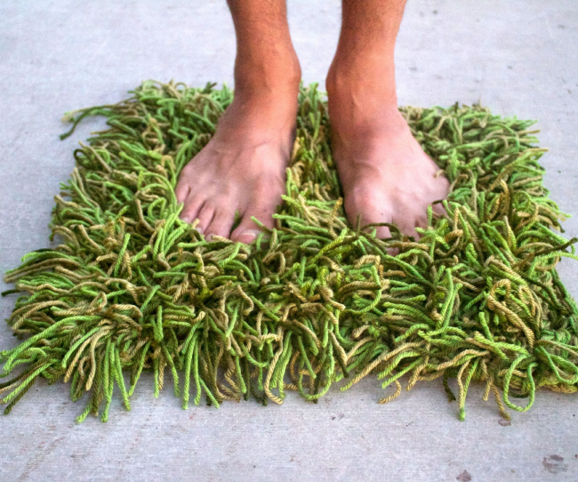 Le tapis d'herbe original à faire soi-même au crochet