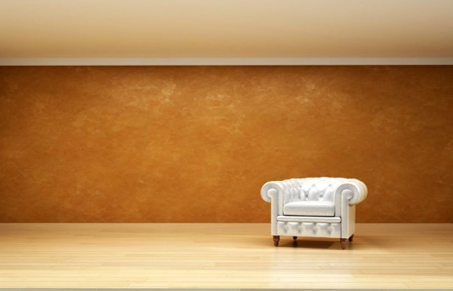 Chic et luxe - murs dorés