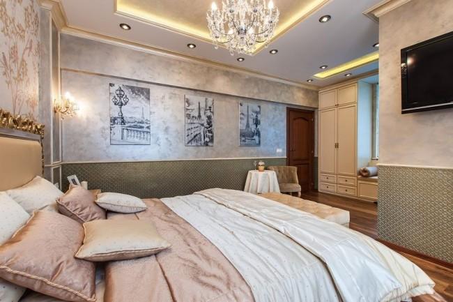Luxe et beauté incroyables - toute la pièce est comme recouverte d'un tissu délicat et coûteux
