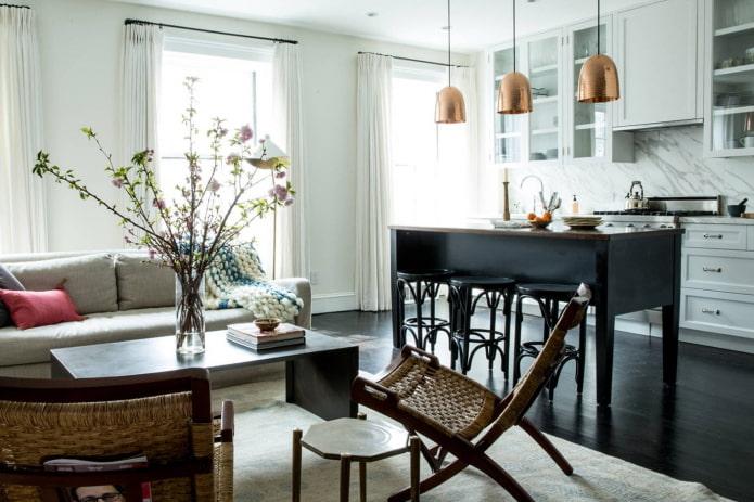 Salon avec table basse