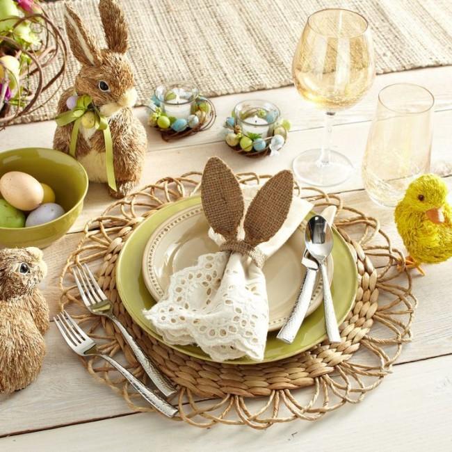 Table de fête de Pâques