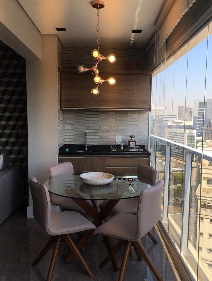 cuisine sur balcon