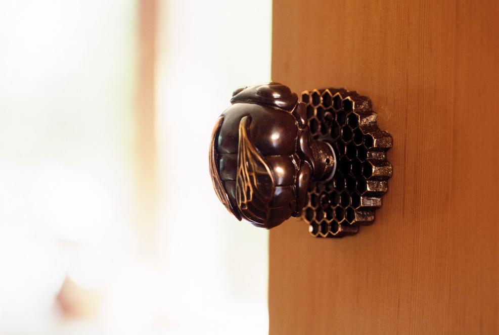Poignée de porte chic fabriquée à la main