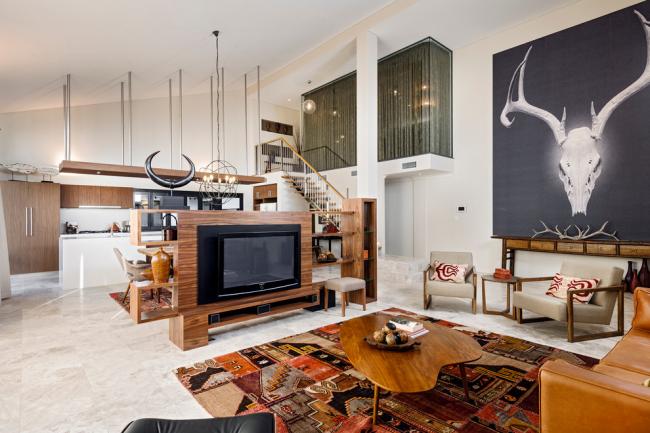 Studio spacieux conçu dans un style moderne