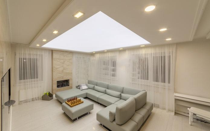 structure de plafond translucide