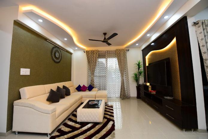 structure de plafond avec éclairage LED