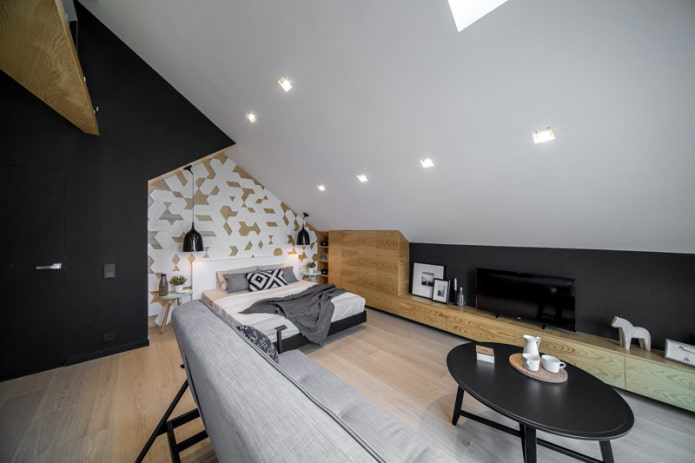 plafond en plaques de plâtre blanc