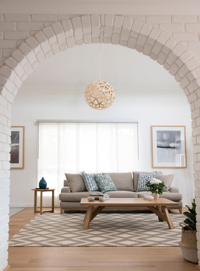 Arche avec briques décoratives