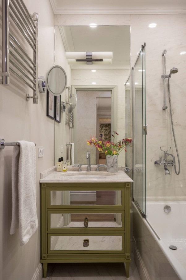 rideau de bain en verre